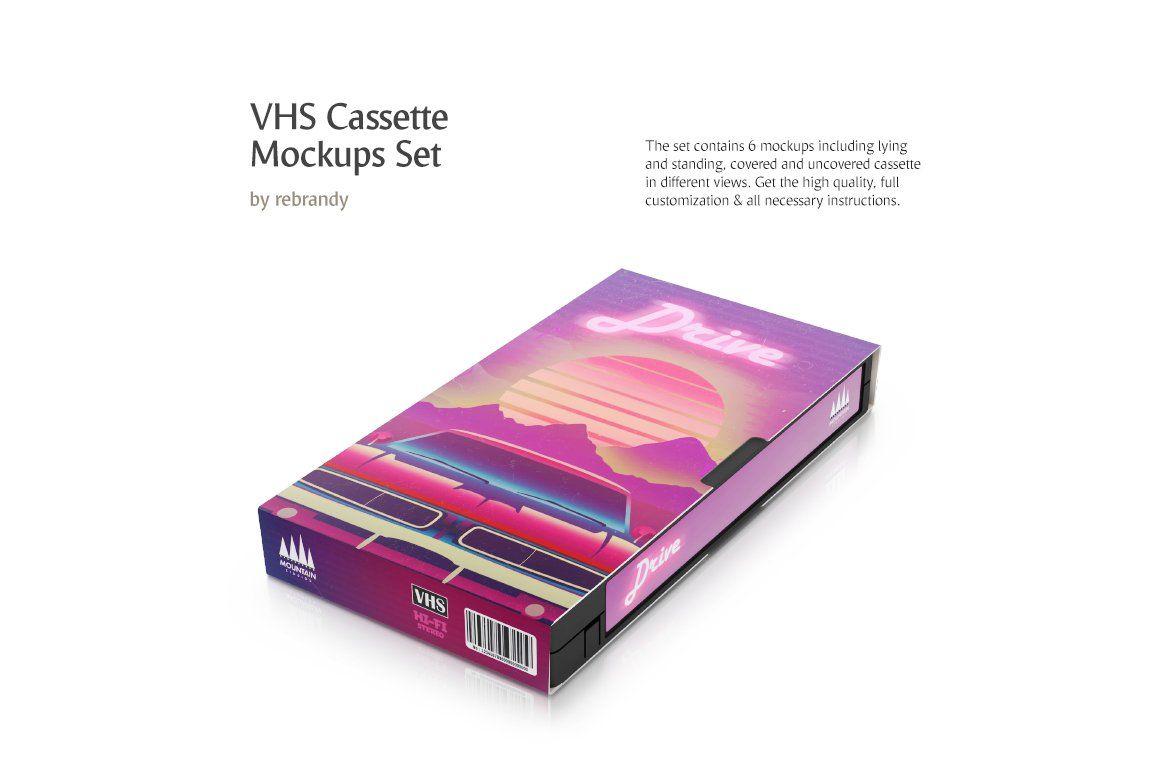 Vhs Cassette Mockups Set Vhs Cassette Design Mockup Free Psd Mockup Template