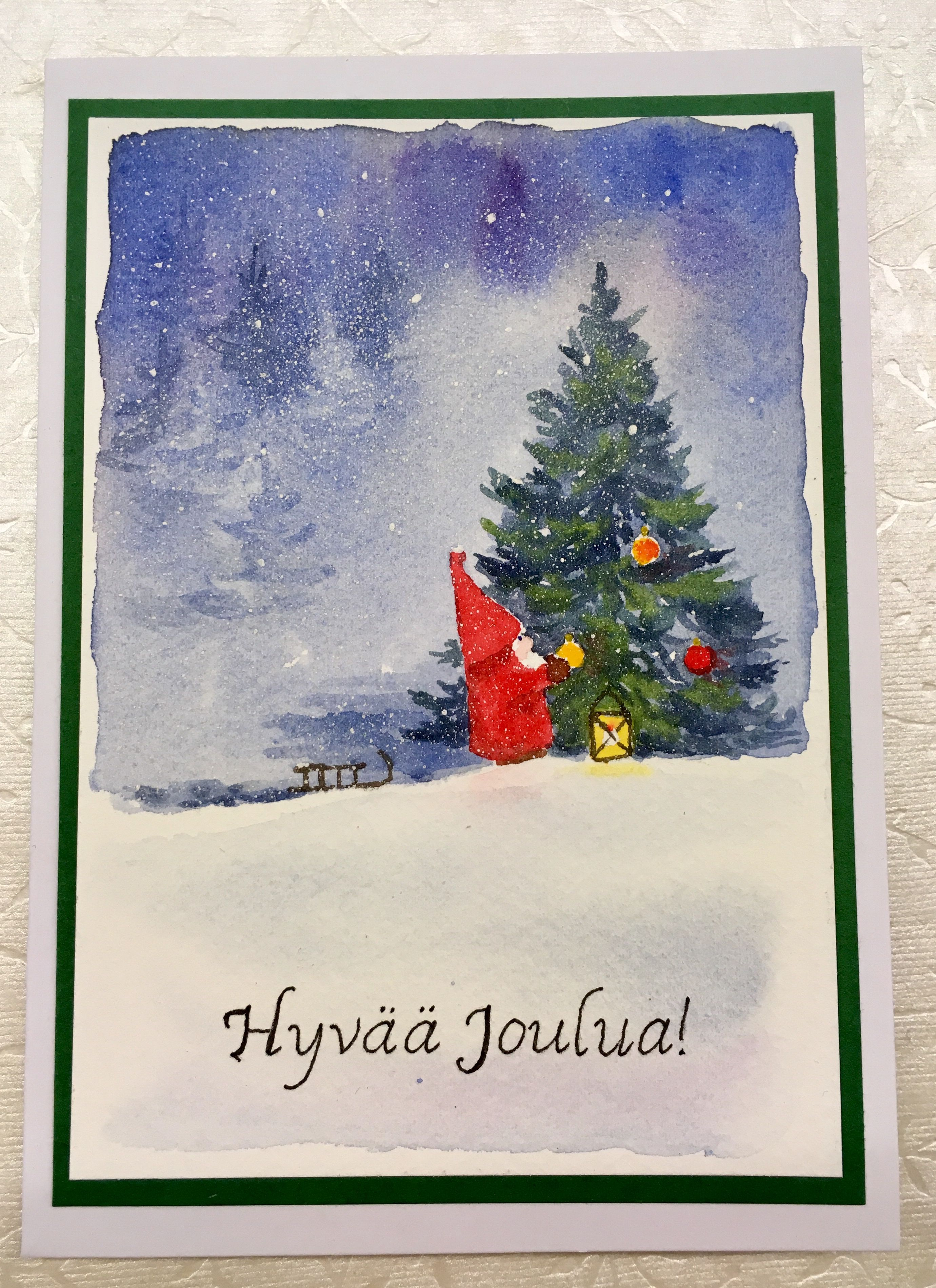Watercolor cards. Creating Christmas spirit! Orders are welcome ...