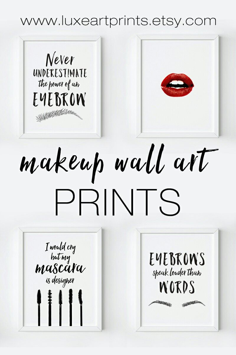 Makeup Wall Decor https://www.etsy.com/shop/LuxeArtPrints ...