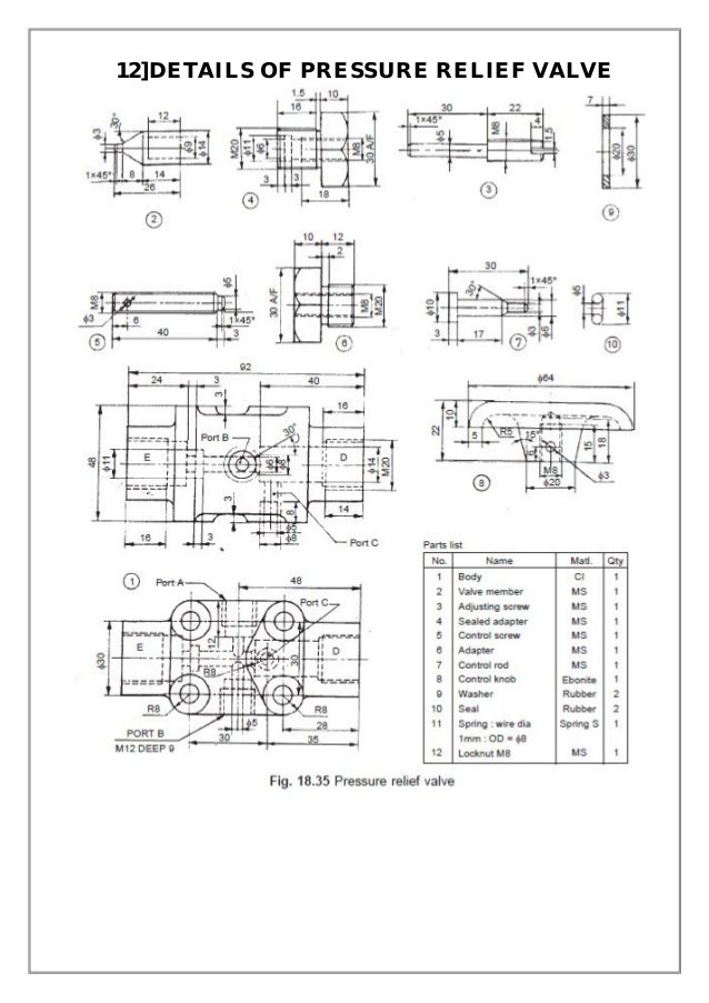 Assembly And Details Machine Drawing Pdf Mechanical Design Mechanical Engineering Projects Drawings