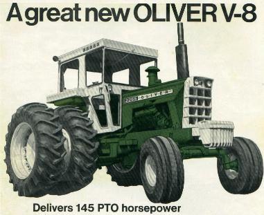 Oliver 2255 tractor farm cat caterpillar