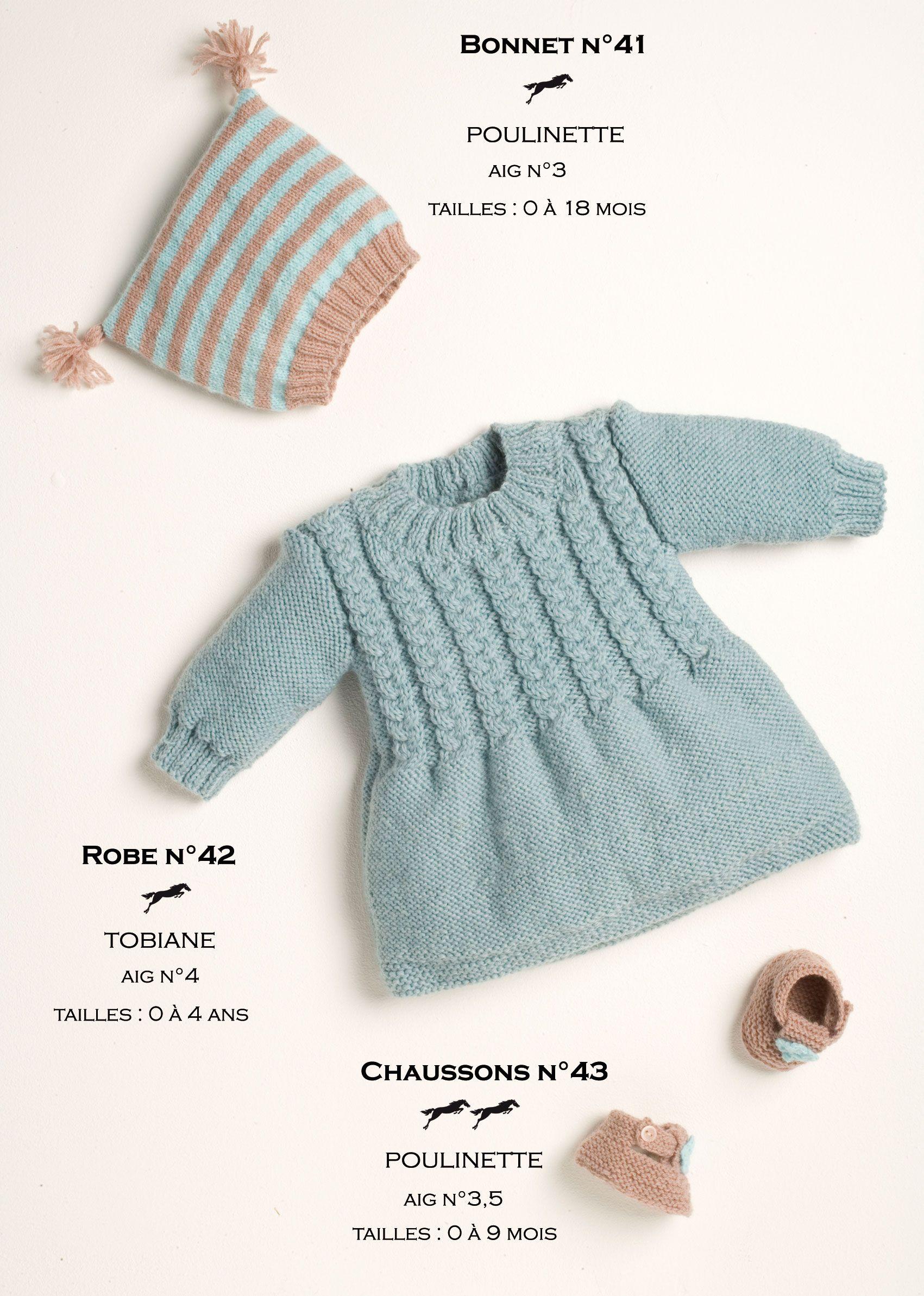 Modèles tricotés dans la laine CHEVAL BLANC. Qualités   POULINETTE et  TOBIANE 811901d758a6