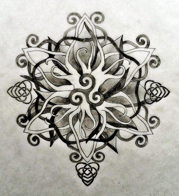 Nice Sacred Tattoo Design