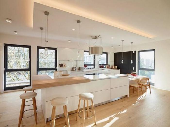 Ilot Central Idees Deco Salon Cuisine Américaine Pinterest - Meuble de cuisine ilot central pour idees de deco de cuisine