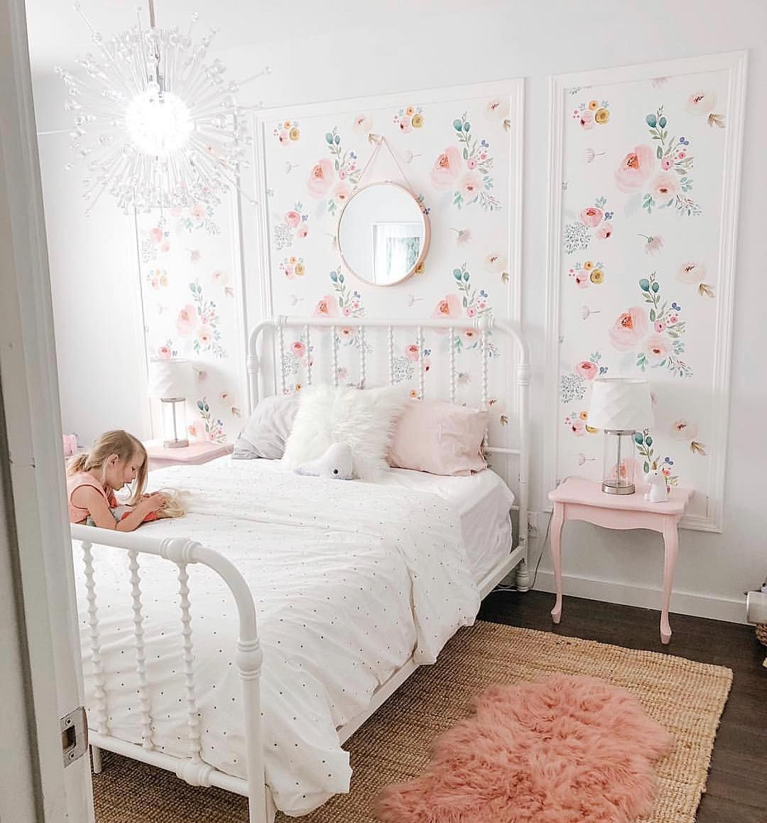 "Decor For Kids® on Instagram: ""Such a pretty space! Love the molding and wallpaper application🌸Credit to @the.dupy.girls"""