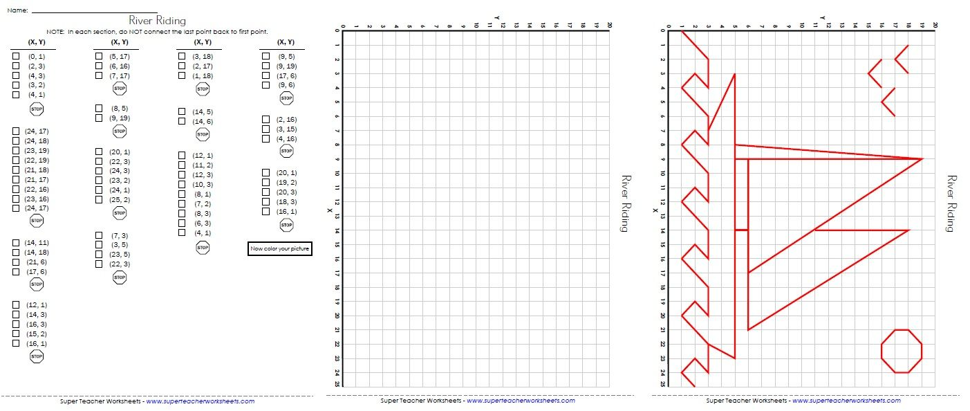 Ordered Pairs - Sailboat   Graphing worksheets [ 594 x 1403 Pixel ]