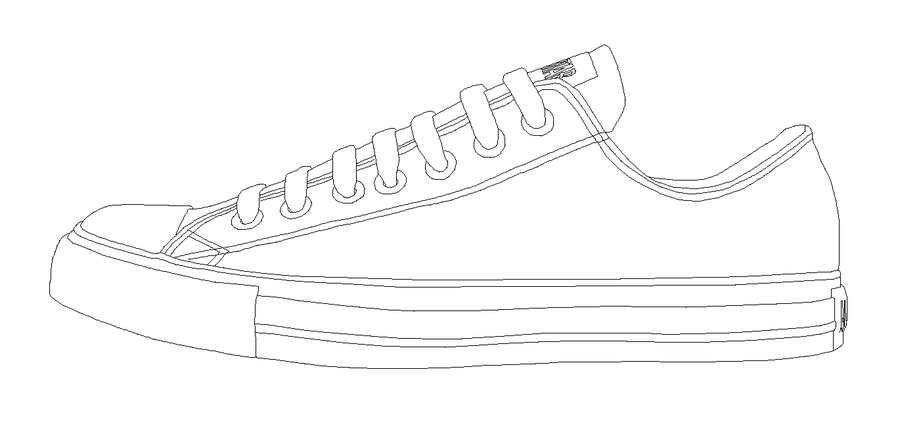 Sneaker Template | Best Photos Of Sneaker Design Template Converse Shoe Drawing
