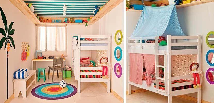 8 bonitas ideas para habitaciones de mellizos bebes - Habitaciones infantiles compartidas ...