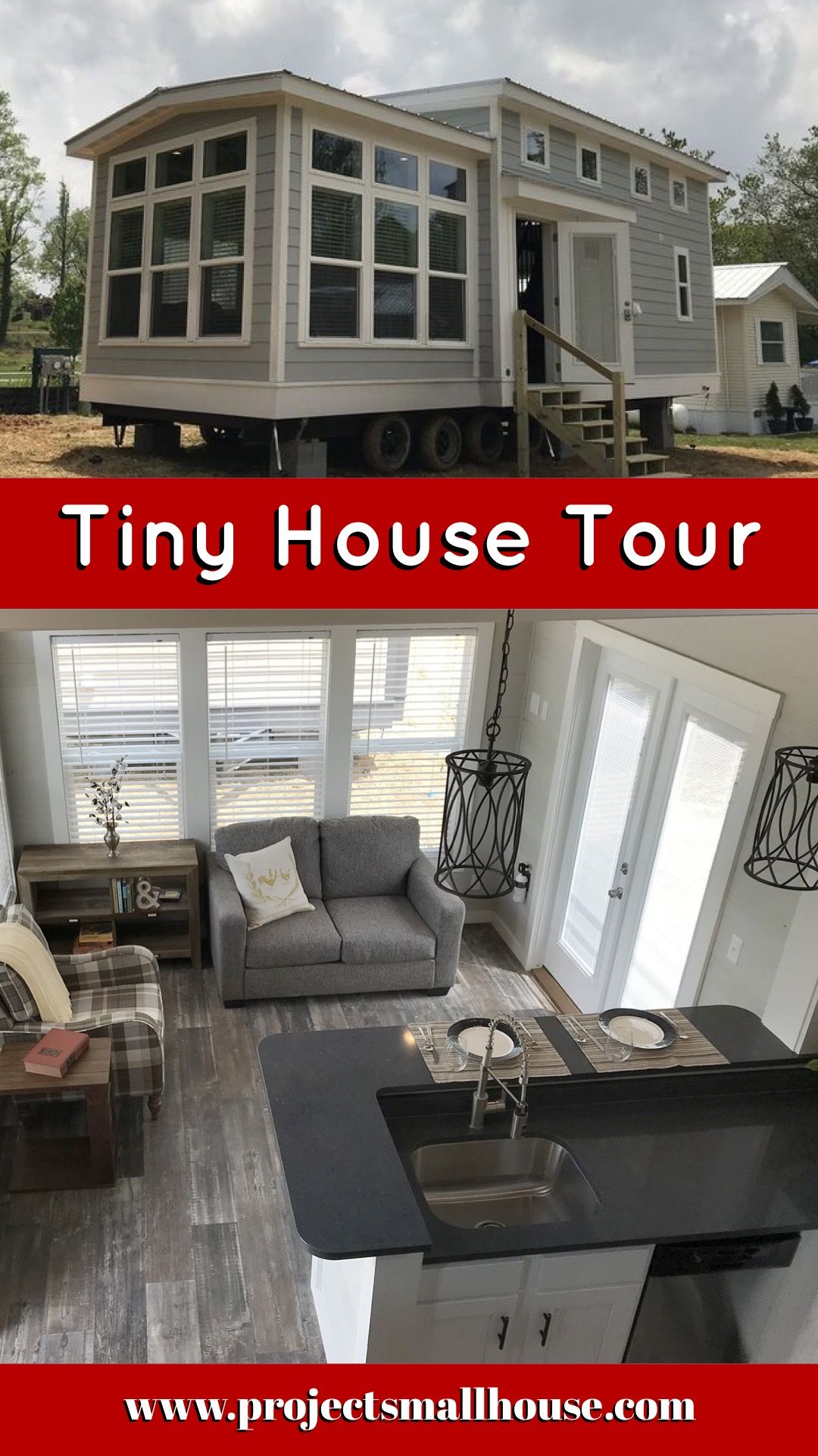 Tiny House Tour Living Room, Kitchen And Dining Bar