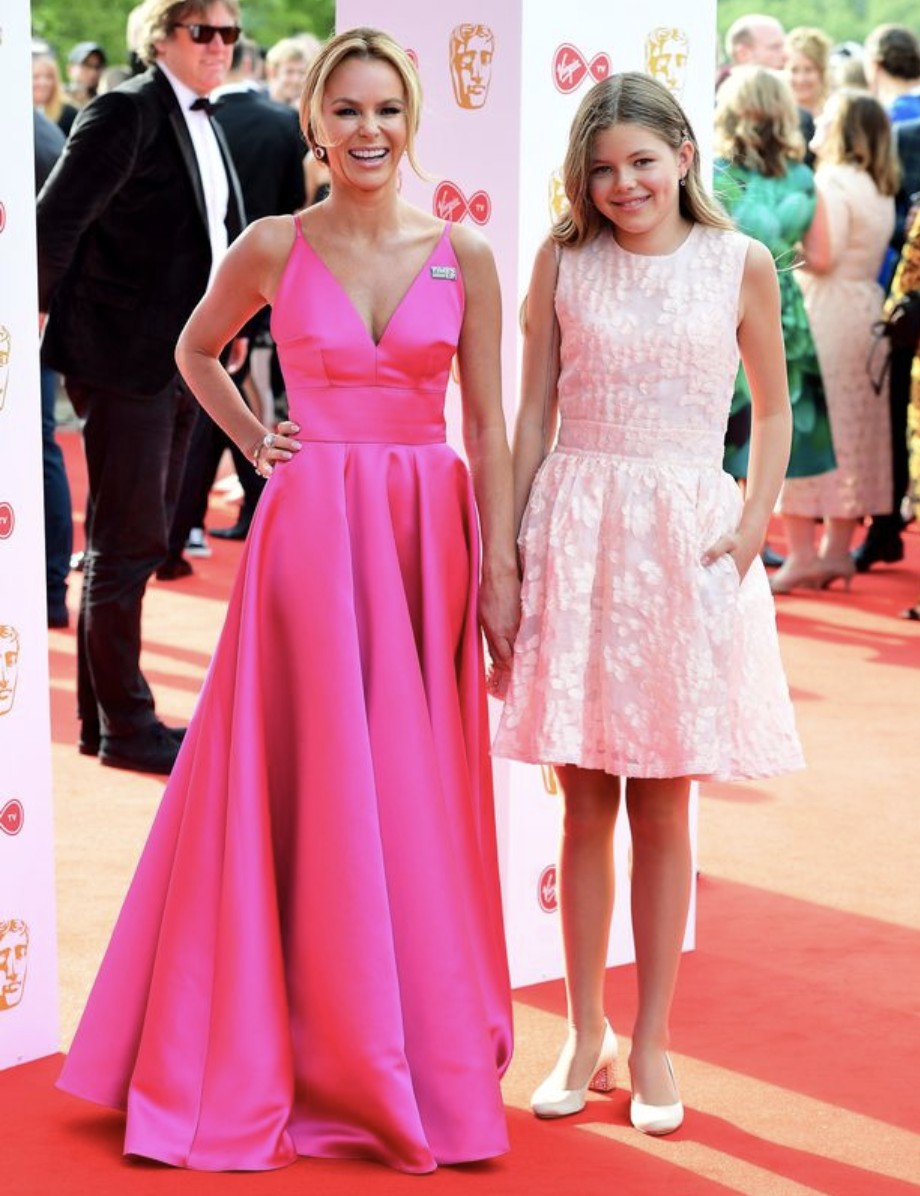 Amanda Holden and her mini-me daughter are adorable on the BAFTA red ...