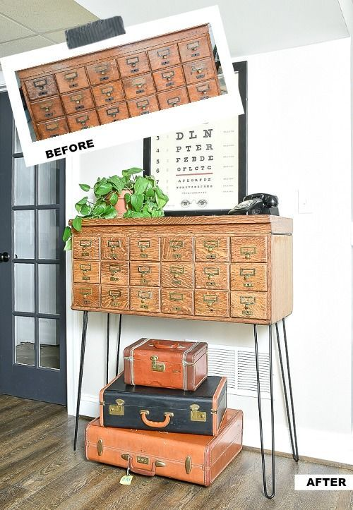 How to Refinish and Restore a Vintage Card Catalog