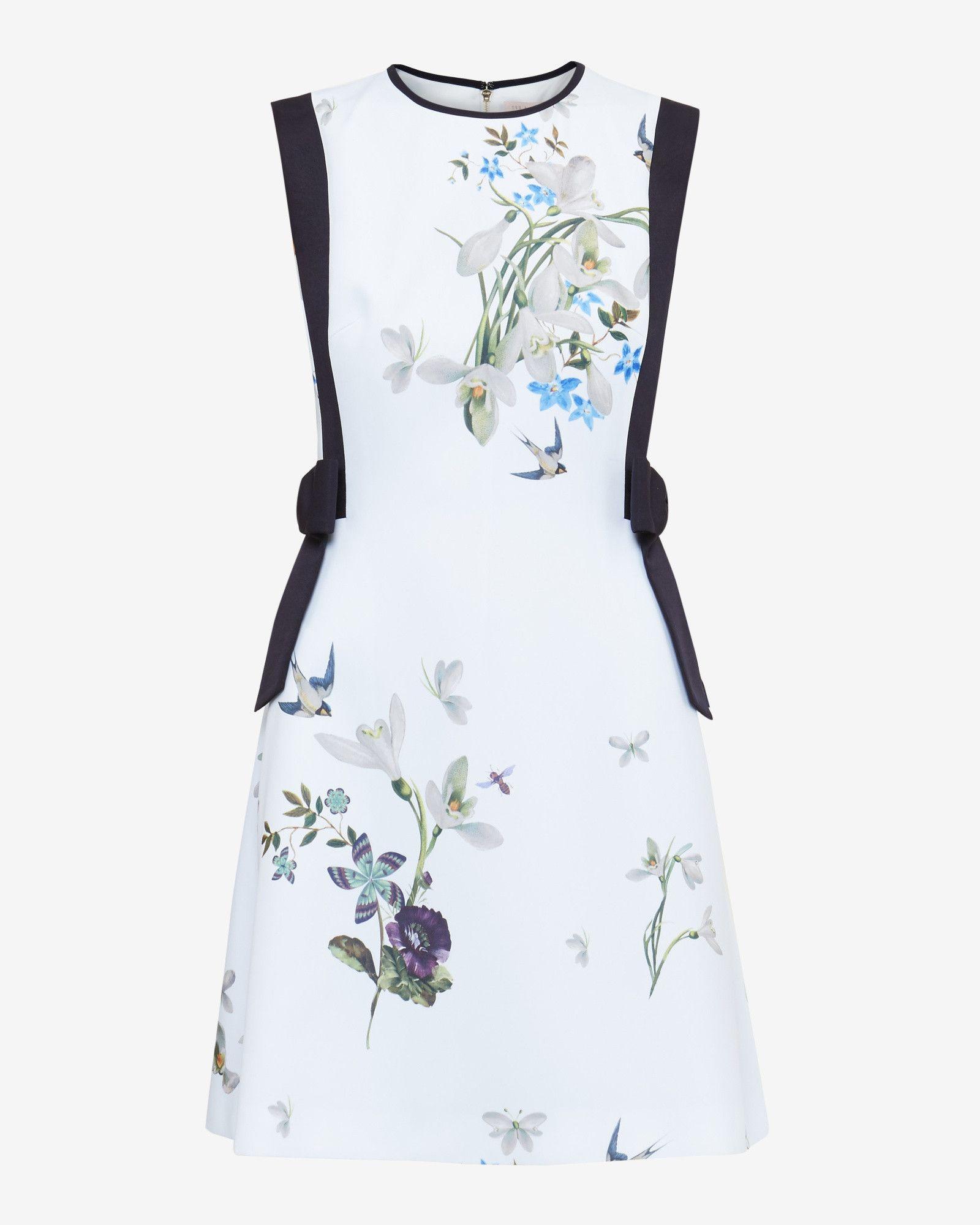 Spring Meadow Bow Detail Dress - Light Green