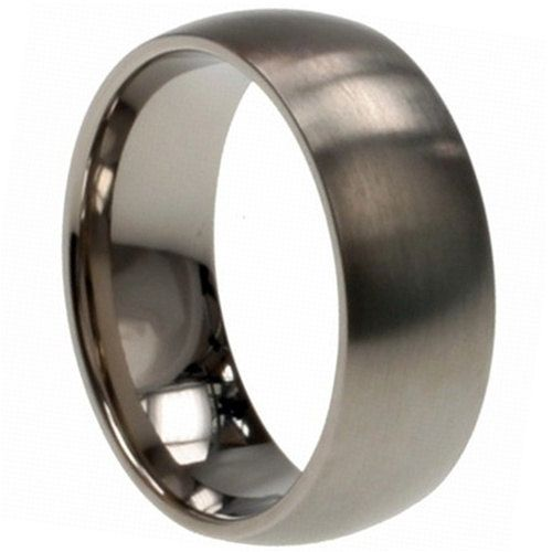 with polished stainless tone wedding simple bands rings silver steel item domed finish comfort fit
