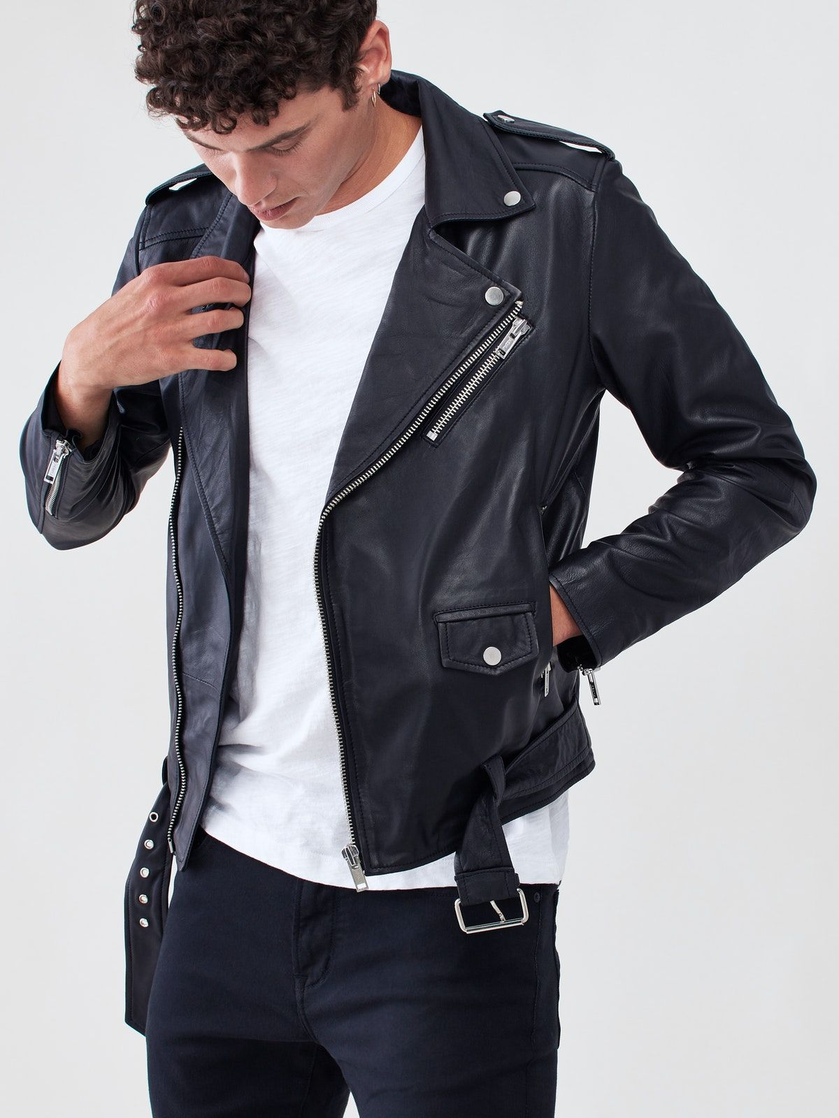 The Biker Jacket Is Deadwood S Signature Design With Everything You D Look For In A Leather Jacket Leather Jacket Outfit Men Biker Jacket Men Leather Jeans Men [ 1600 x 1200 Pixel ]