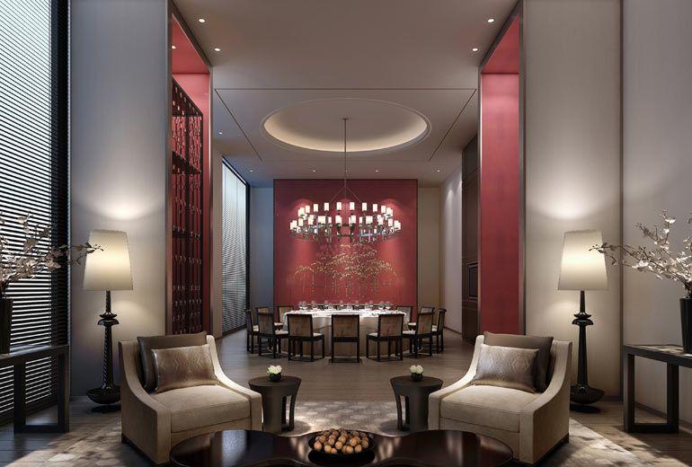 Private Dining Room Rendering Restaurant Interior Design Wood