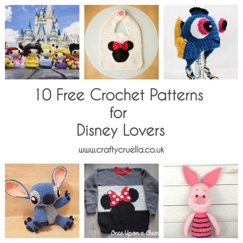 10 Free Crochet Patterns For Disney Lovers Amigurumi Crochet