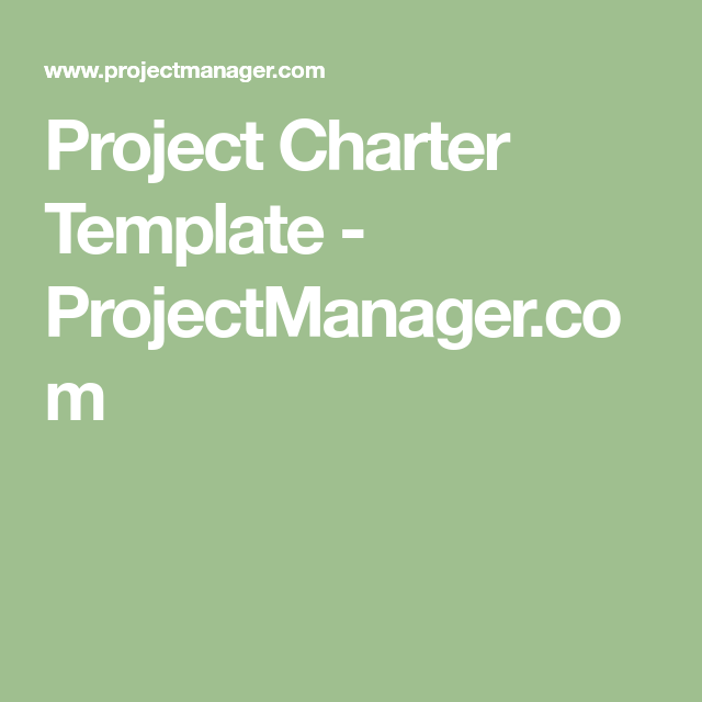 Project Charter Template  ProjectmanagerCom  Project Management