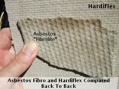 asbestos fibro and hardiflex compared notice the dimples