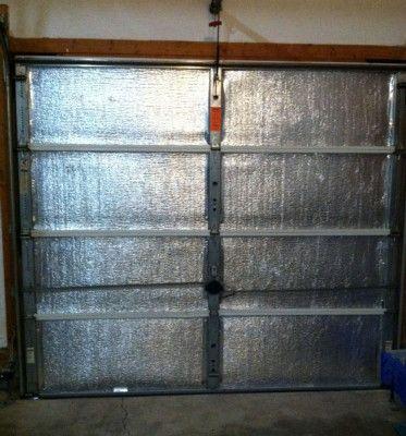 Make your garage door more energy efficient. Insulate it ...