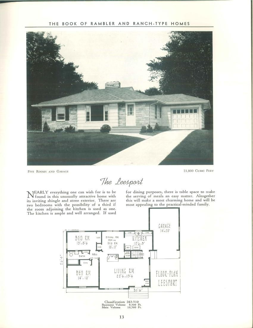 Book of rambler and ranch-type homes : designs ...   Archive.org ...