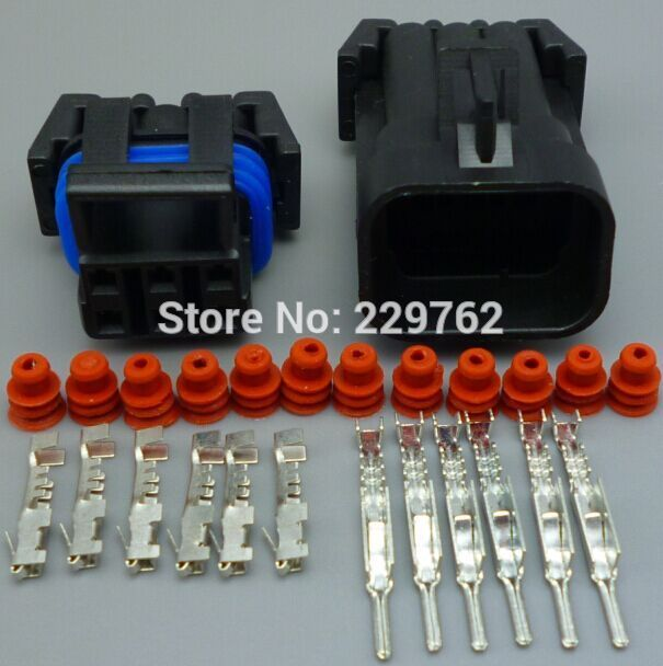 100sets 6 Pin male and female Auto plug connector,Car