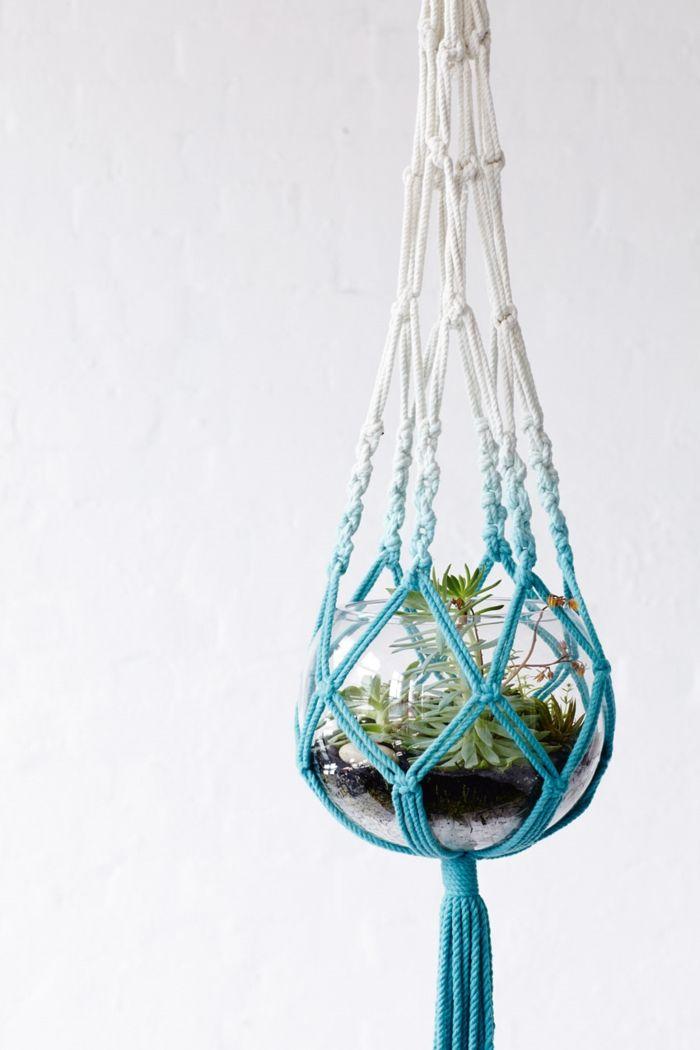 1001 projets diy macram en tutoriels et photos magnifiques suspension plante terrarium et. Black Bedroom Furniture Sets. Home Design Ideas