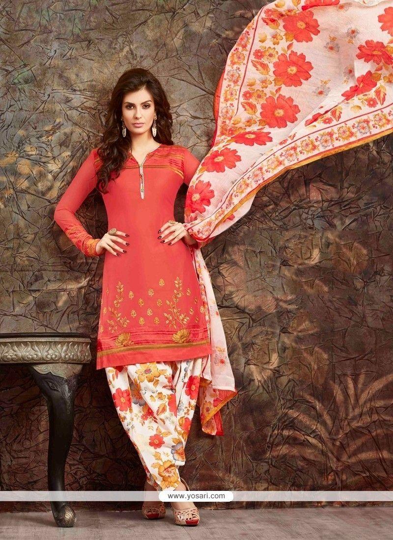 1025972d0f5 Fine Embroidered Work Orange Designer Suit Model  YOS6681