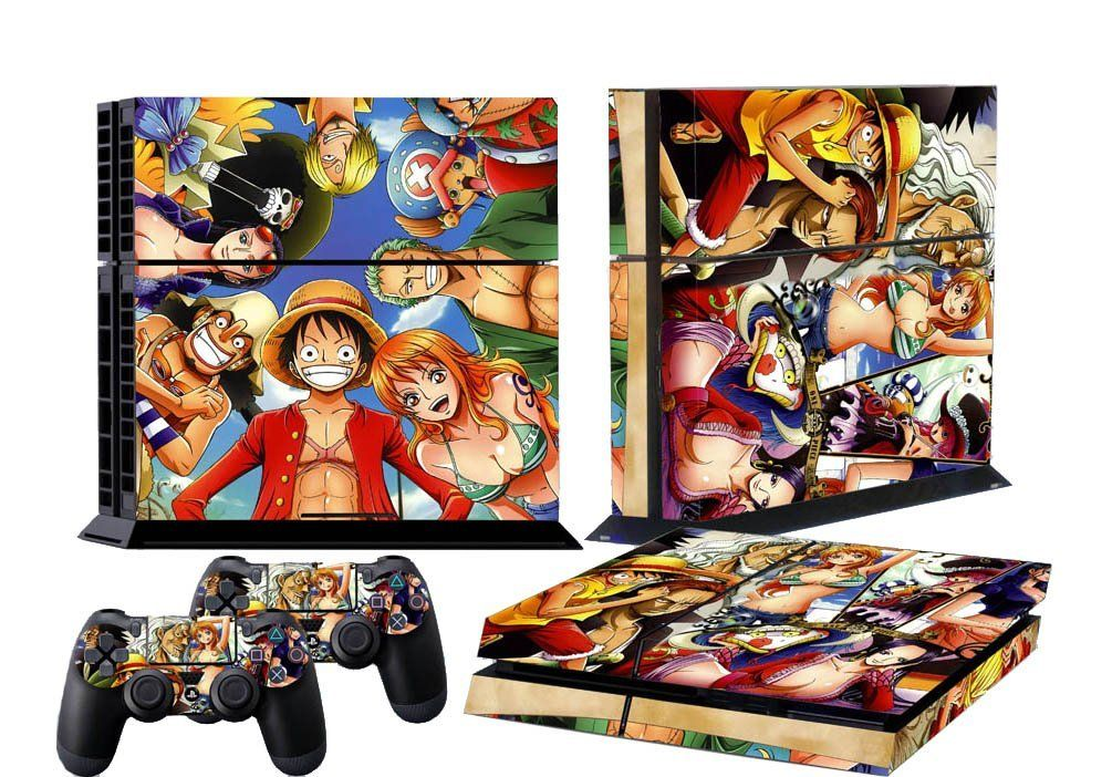 HOMEREALLY Stickers Anime One Piece Vinyl Cover Decal PS4