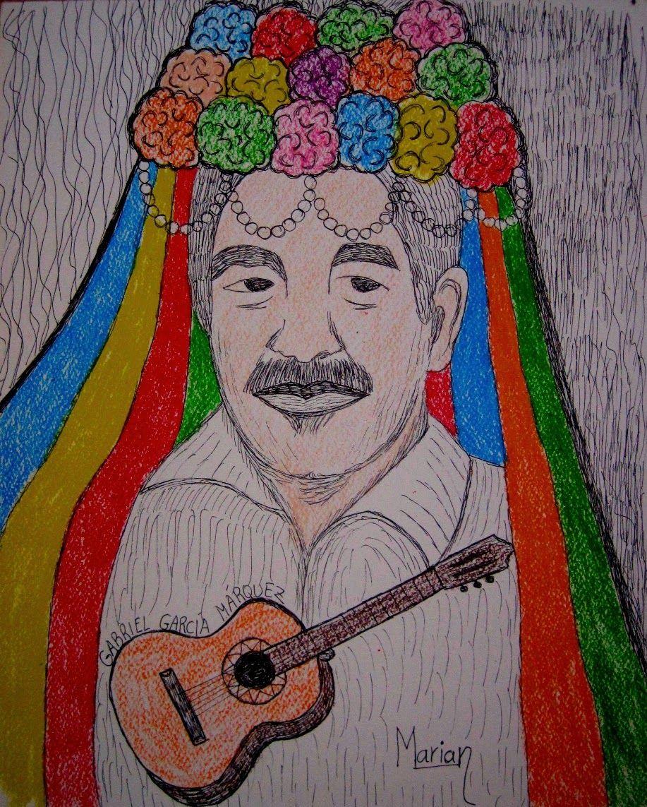 Una idea, mucho arte García Márquez en la fiesta malagueña Mixta/Papel gvarro, 26 x 32 cm Autora  Marian Molina Gámez