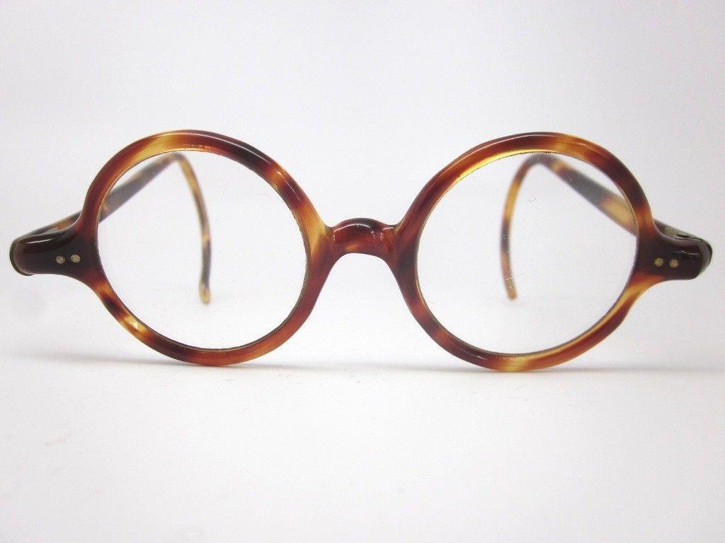 Vintage Round Tortoise Shell Glasses Vintage Eyeglasses Glasses Tortoise Shell Glasses