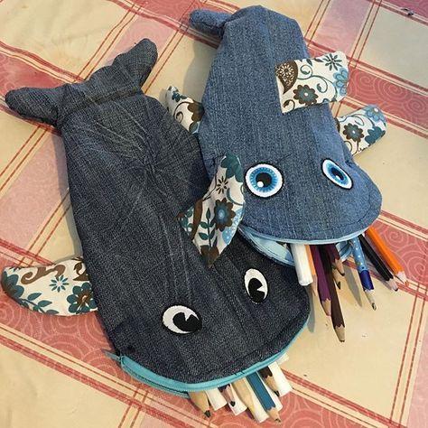 Aus alten Jeans hat meine kleine(10)mit mir sich ein Mäppchen gebastelt.#jeans #upsykling #aufwertung #ausaltmachneu #nähen #nähenfürkinder #sewing #sewingisfun #sewingtime #schulmäppchen #schlampermäppchen #fisch #fische #fish #vieuxjeans