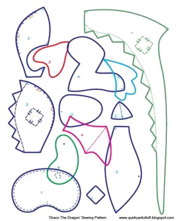 Quirky Artist Loft: Free Pattern: Draco The Dragon | Filcaki ...