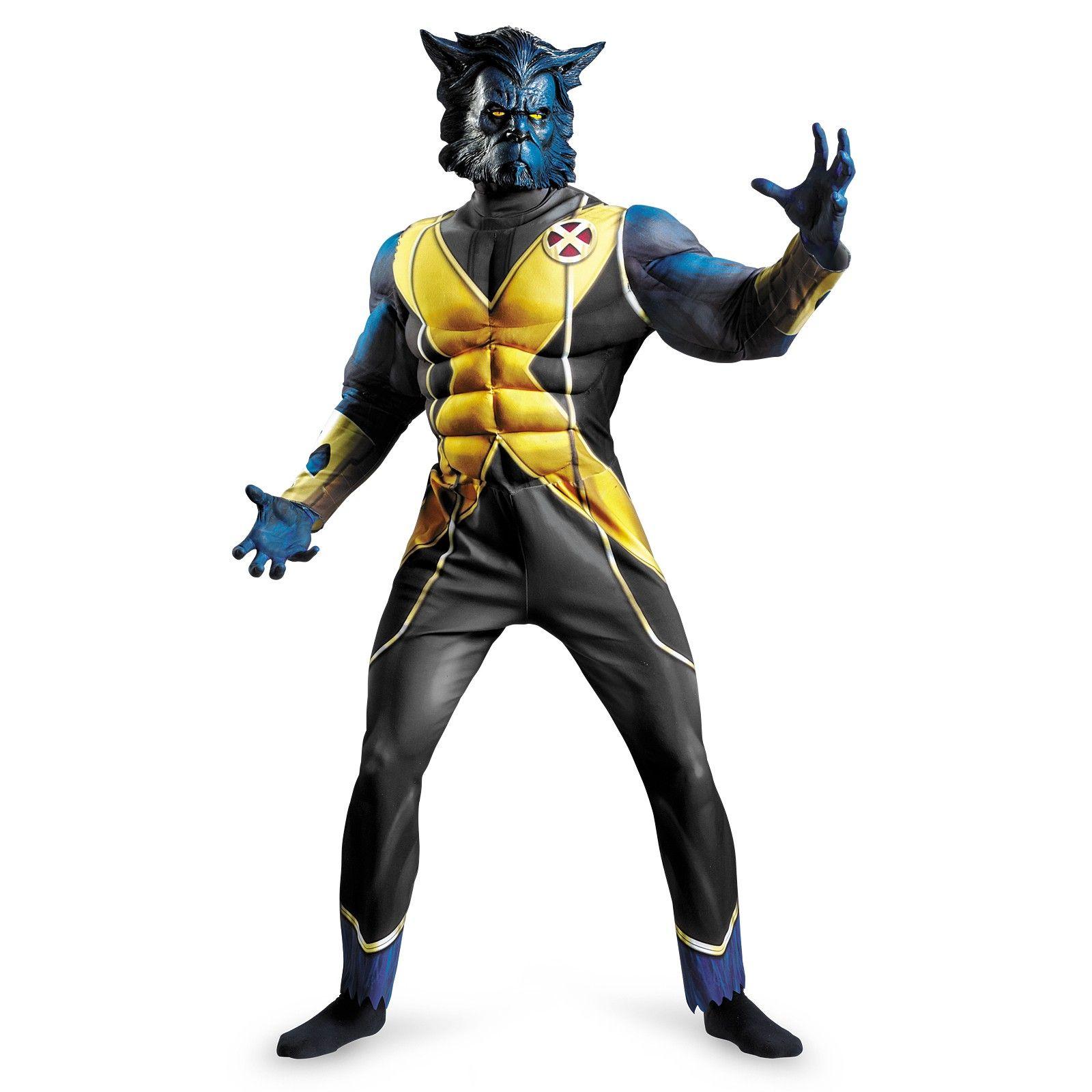 Licensed Mens Wolverine X-Men Costume Super Hero Muscle Jumpsuit X Men Outfits