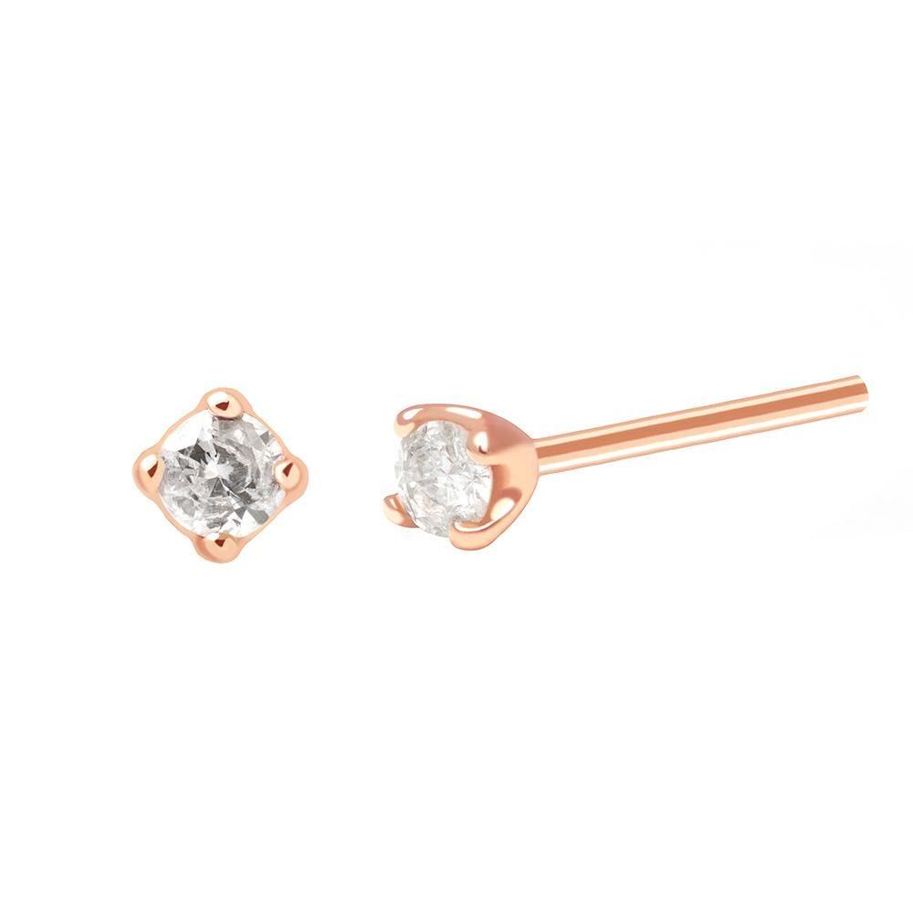 5ba5b8b68 Basic Diamond Stud Earring 2.0 in Rose Gold – Astrid & Miyu | Lust ...