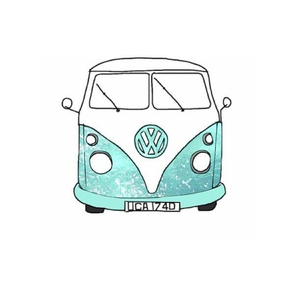 Gallery For > Hippie Van Drawing ❤ liked on Polyvore featuring home ...