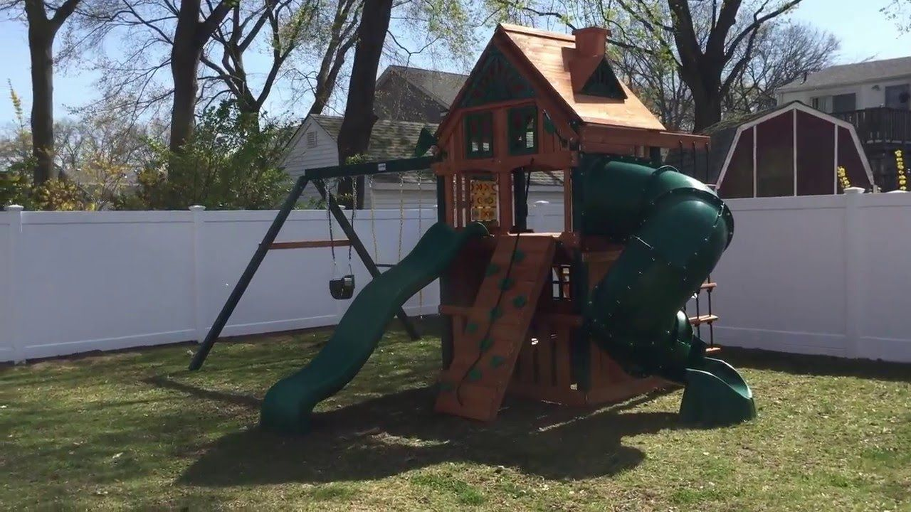 Gorilla Mountaineer Clubhouse Treehouse Swing Set Install In Merrick