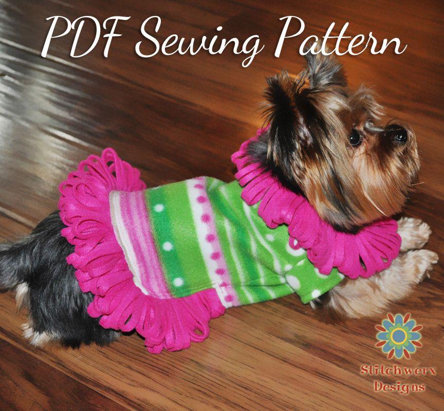 Small Dog Fleece Sweater Pattern - Dog Clothes PDF Sewing Pattern ...