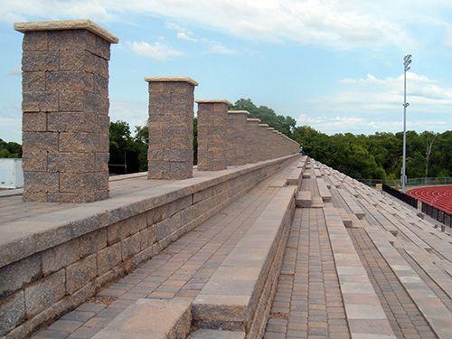 LandscapeOnline.com :: Article : Retaining Wall Stadium Seating