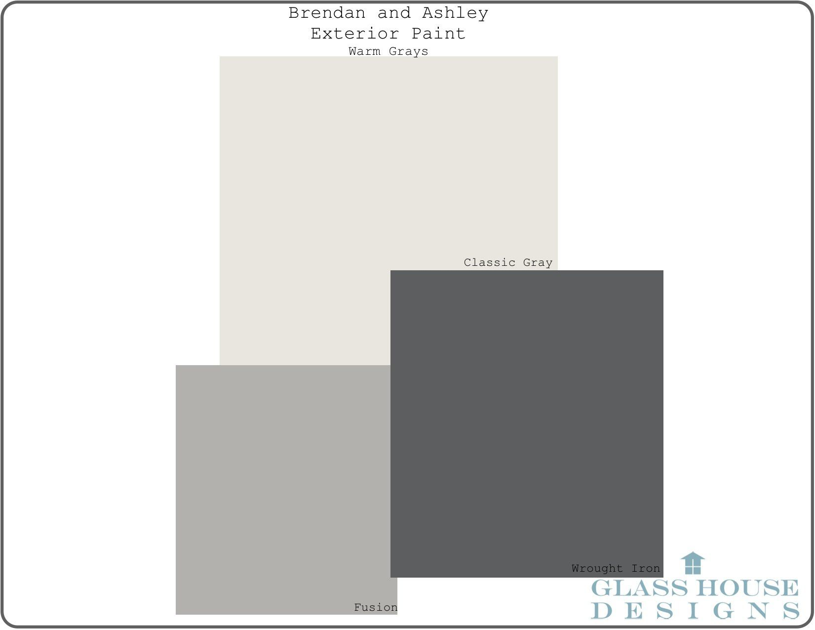 Warm Gray Paint Color Scheme- Benjamin Moore Paint- exterior ...
