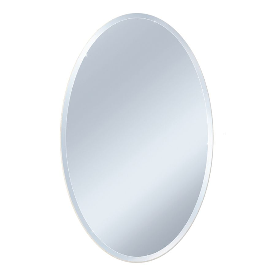 Any Comparable Sized Wall Mounted Mirror Example Style Selections X Beveled Oval Frameless