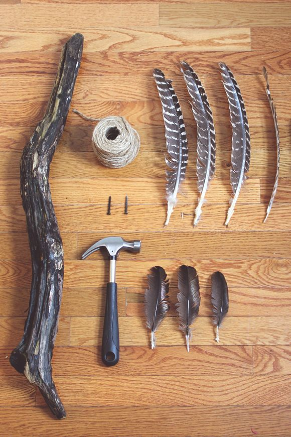 DIY Feather Wall Hanging