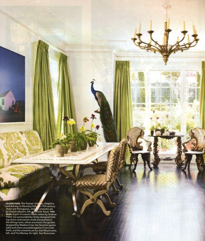 Alexis Swanson Traina Elle Decor Blue Living Room Decor Home Decor Blue Living Room Best dining rooms elle decor
