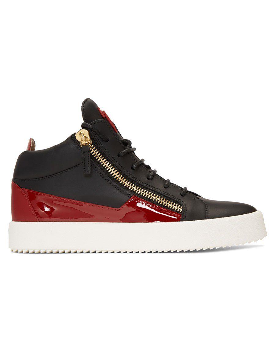 Giuseppe Zanotti Black & Red May London High-Top Sneakers Photos À Vendre Images Bon Marché Ebay Pas Cher En Ligne pB9YpregYh
