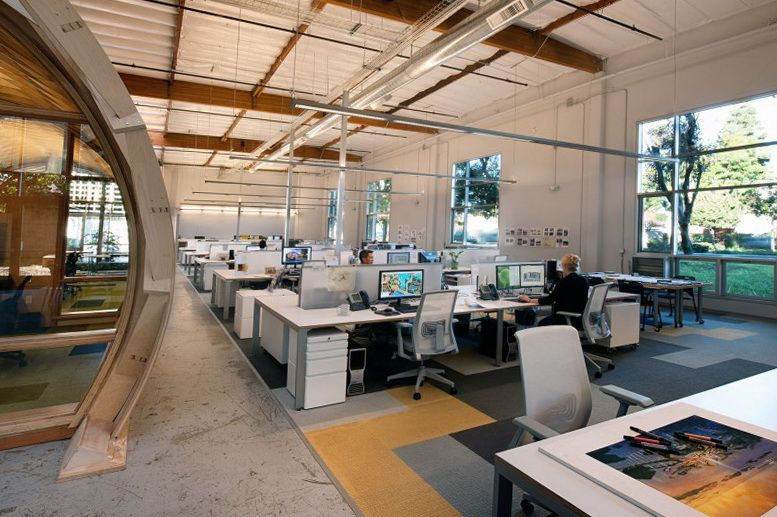 Modern workplace space in california architecture for Ideal office design