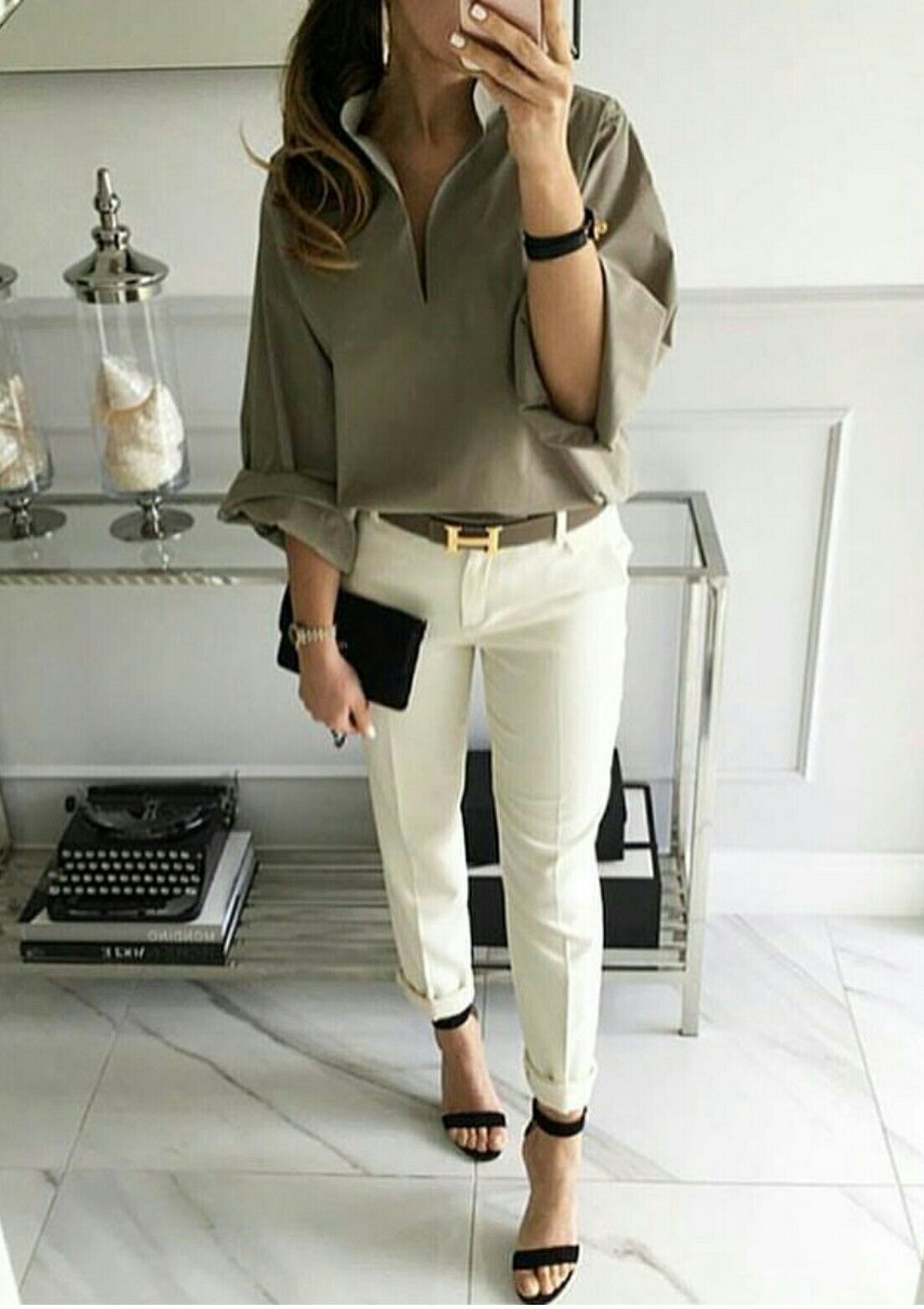 182952d61677 Green Blouse Outfit