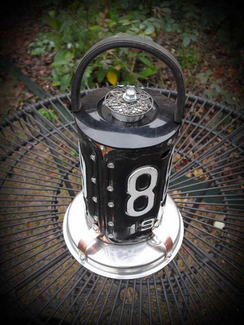 "Black License Plate ""Lantern"" Repurposed Upcycled Metal Birdhouse"