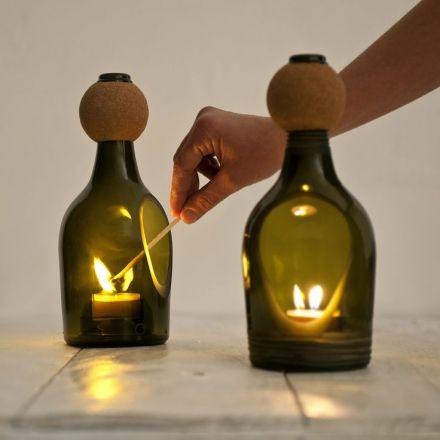 ecodesign van glas botellas decoradas pinterest. Black Bedroom Furniture Sets. Home Design Ideas