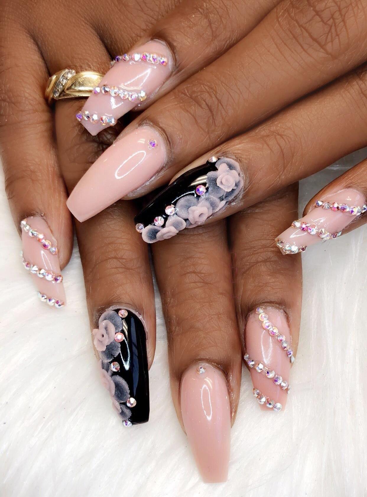 Full Set Acrylic Hands 35 Full Set Acrylic Pedicure Nail Art Nail Art