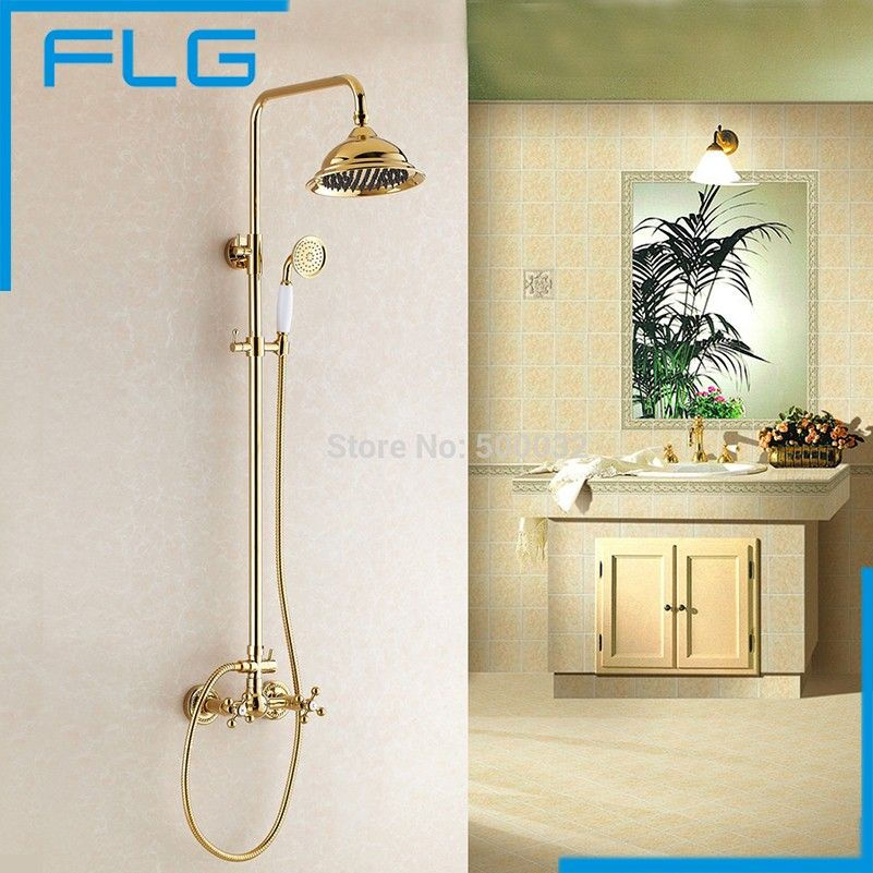 NEW Luxury Tub & Shower Faucet Set Dual Handle 8\