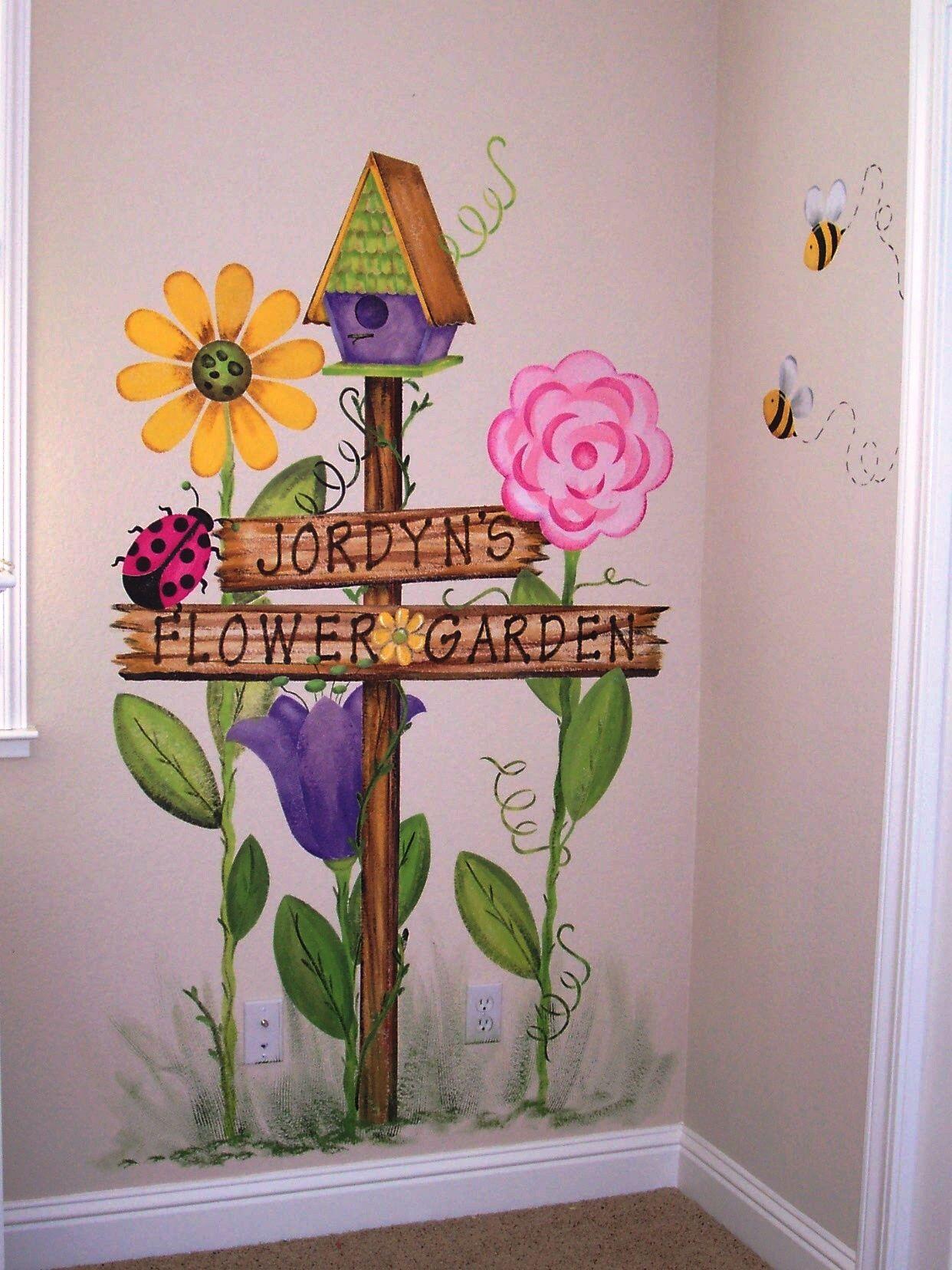 Image Result For Childrens Garden Murals Garden Mural Mural